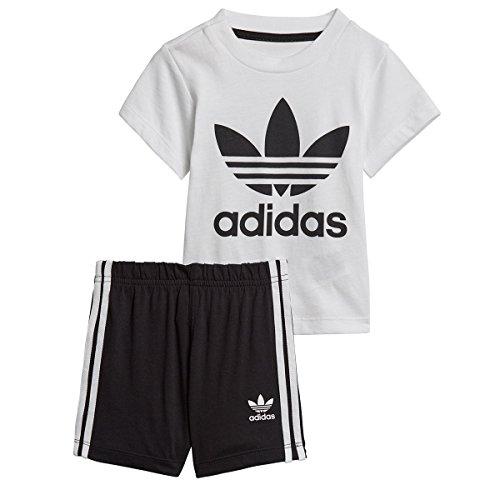 Adidas ce1993Set Sport Jungen L weiß / schwarz