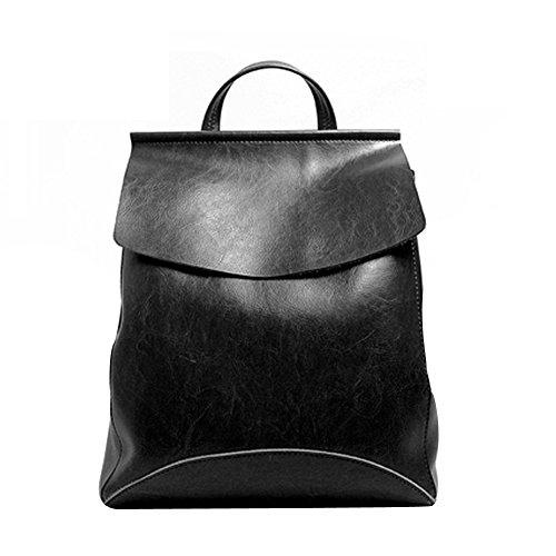 Leathario Borsa donna pelle vera zaino tracolla grigio spalla eleganti lavoro vintage cuoio fashion borsone sacca borsa a mano shopping weekend nero
