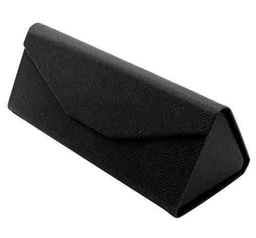 dfd9f23e17 TBOC Funda Plegable Gafas de Sol - Estuche [Negro] Rígido [Triangular] con