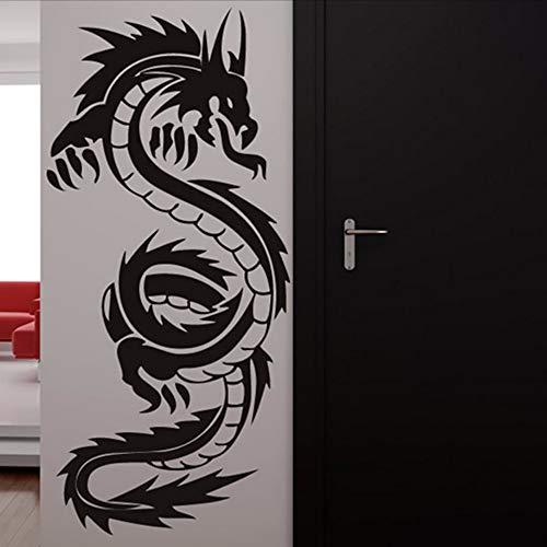 Waofe chinese dragon wall mural large size soggiorno decorativo animale silhouette wall sticker pvc home decor 44 * 88 cm