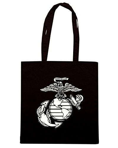 T-Shirtshock - Borsa Shopping OLDENG00706 usa marines Nero