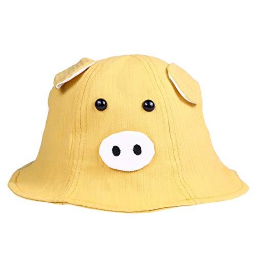 Hawkimin Baby Baumwoll Sonnenhut, Neu Bequem Nettes Schwein Karikatur Junge Mädchen Hut Stoffhut Kappe Mütze Fischerhut Mit ()