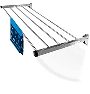 SYNERGY - (5 Pipe x 2 Feet) - Heavy Duty Stainless Steel Foldable Wall Mounted Cloth Dryer/Clothes Drying Stand [SY-GL1]