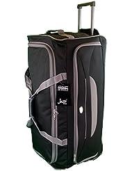 Très grande taille Sac de voyage 105L de Voyage valises souples. Noir avec garniture gris. Bagagerie