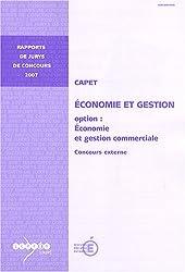 CAPET, économie et gestion, option: économie et gestion commerciale : Concours externe