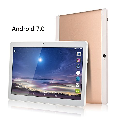 Fengxiang Tablet PC 10 inch (10.1), 4GB RAM, 64GB ROM, 1280 x 800 IPS, 3G Dual SIM, Android 7.0 Tablet, Octa Core, Bluetooth (Silver)