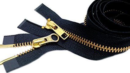 "Navy Blue 560 14/"" to 36/"" #5 Aluminum Separating Jacket Zipper YKK ~ ZipperStop"