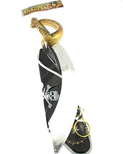 Zac's Alter Ego® Fancy Dress Pirate Set (inc. Sword, Hat, Eye Patch & Compass) (London Eye Kostüm)