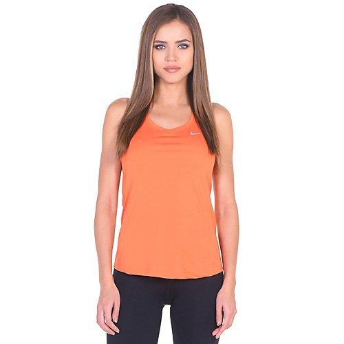 Nike Miler Tank - Top sin mangas para mujer, color naranja, talla L
