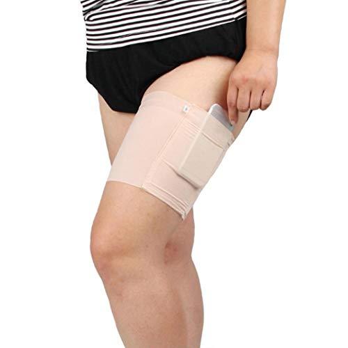 1PC Frauen Fitness-Schenkel-Band Anti-Rutsch-Socken-Schenkel-Trim-Geldbeutel Mit Secure Tasche Handy-Karten-Beutel Für Damen -