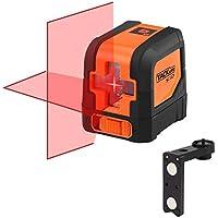 Tacklife SC-L01Classique Niveau Laser Croix 15m /Laser Horizontal et Verticale/Grand Angle de 110°/Verrouillable/Laser Rouge et Brillant/Support Magnétique Rectangulaire