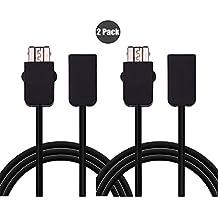 Exlene® 3M/10ft NES extensión Cable (2 paquetes) para Nintendo NES Classic Controller Edition Mango Extensión de la conexión Cable extenso