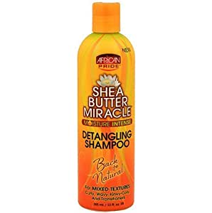 African Pride Shea Butter Miracle Detangling Shampoo 355 ml by African Pride (English Manual)