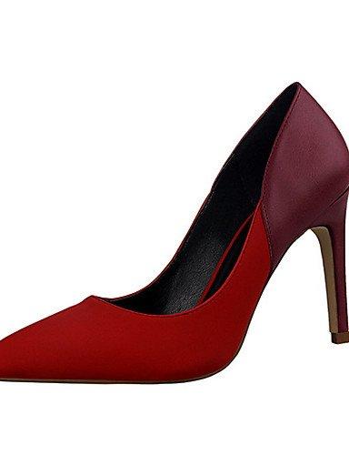 WSS 2016 Chaussures Femme-Décontracté-Noir / Rouge / Gris / Kaki / Amande-Talon Aiguille-Talons-Talons-PU khaki-us7.5 / eu38 / uk5.5 / cn38