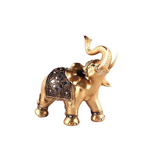 n Schreibtisch Dekoration Elefant Statue Geschenk Miniatur Home Harz Ornament Elegantes Reichtum Figur Handwerk - Wie Bild Show, Small ()