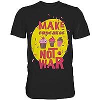 T-Shirt mit Aufdruck Make cupcakes not war, bedrucktes Herren T-Shirt, Premium T-Shirt in vielen Farben, T-Shirt in der Größe S bis 4XL
