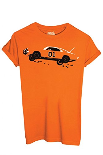 T-shirt hazzard generale lee - film by mush dress your style - uomo-l-arancione