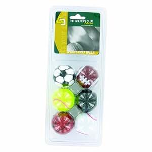 Novelty Balles de golf Design ballons de sport Lot de 6