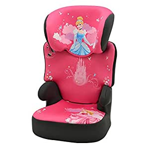 Highback booster Car seat DISNEY - Group 2/3 (15-36kg ) - Side impact protection - Made in France - 3 stars TCS - Approved ECE R44/04.