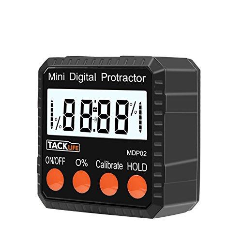 Tacklife MDP02 Klassischer Digitaler Winkelmesser Neigungsmesser Wasserwaage mit Magnet