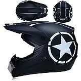 Herren Motocross Helm ABS Motocross Off Road Vollhelm Staubdicht Winddicht Mottobike Helm für Erwachsene
