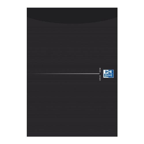 Oxford 100050241 Briefblock - Smart Black, A4, kariert, 5 mm, 50 Blatt, 90 g/m² Optik Paper, 10-er Pack, schwarz