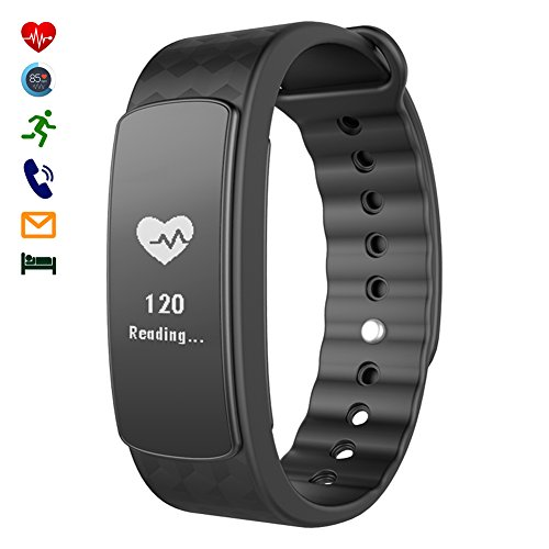 CHEREEKI intelligente Bracciale Bracciale di sport con Frequenza cardiaca Intelligente Fitness Tracker con touch screen Tracker Activity sonno Monitor braccialetto SmartWatch per Android e iPhone iOS Smartphone