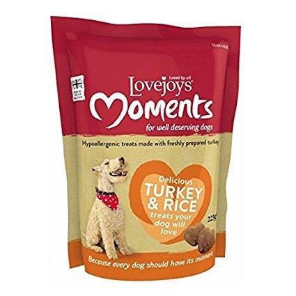 Lovejoys Moments Hypoallergenic Dog Treats Turkey & Rice