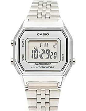 Casio Damen Digital mit Edelstahl Armbanduhr LA680WA 7D