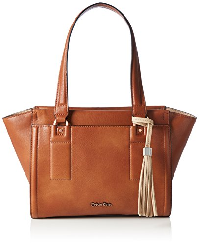 Calvin Klein - ROBYN SMALL TOTE, Borsa shopper Donna Marrone (Braun (WHISKEY/FRAPPE 901 901))