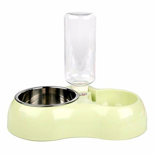 ZPP-Materiali di consumo di PET Dog Bowl in acciaio inox cat bocce acqua automatico doppia alimentazione ciotola cane gatto vaschetta acqua ciotole dog dog food bowl,automatico,verde