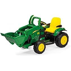 Peg Perego John Deere Ground Loader 12V IGOR0068 Vehículo Eléctrico Infantil