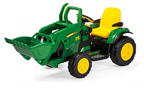 John Deere Ground Loader Kinder Elektro Traktor von Peg Perego 12 Volt mit Frontlader thumbnail