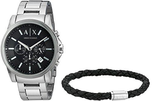 ef51452cd43f Armani Exchange Reloj Cronógrafo para Hombre de Cuarzo con Correa en Acero  Inoxidable AX7100