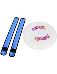 Justmysport Discos Voladores LED Discos de Ultimate Frisbee con 2 Pulseras LED de la Palmada Pulsera de Luz de Brazalete