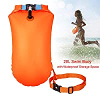 Keep Better Swim Buoy Waterproof Dry Bag Swim Safety Float Keep Gear Dry for Boating Kayaking Fishing Rafting Swimming Training and Camping
