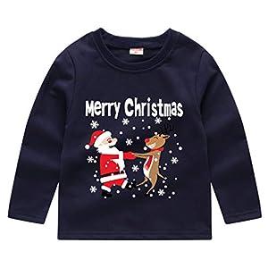 K-Youth para 1 a 5 años Ropa Bebe Niño Navidad Otoño Invierno Disfraz de Navideño Camiseta Manga Larga Bebe Blusa de… 6