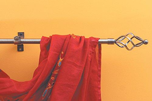 Bastone ferro battuto per tende da cm 120 a 220 diametro 15 mm f366 color ottone