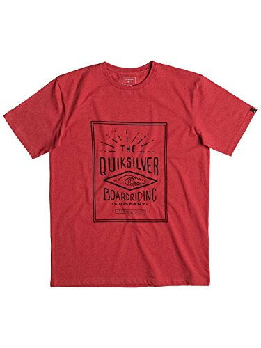 Herren T-Shirt Quiksilver Heather Double Lines T-Shirt cardinal heather