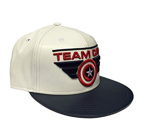 Captain America Cap Team Cap Civil War Basecap Snapback Mütze Marvel Comics Schirmmütze Kappe (Team-logo-hut)