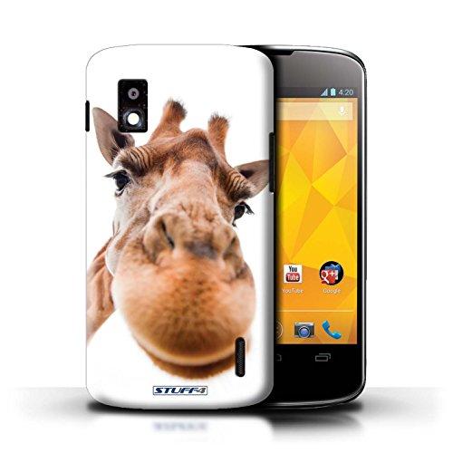 Kobalt® Imprimé Etui / Coque pour LG Nexus 4/E960 / Chien curieux conception / Série Animaux comiques Museau de giraffe