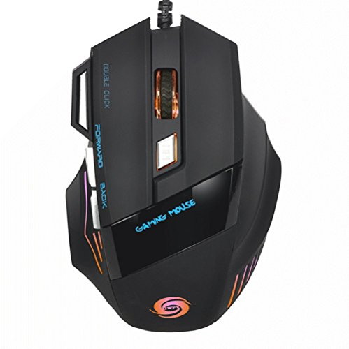yoobo–Professionelle E-Sport-Gaming Maus 5500DPI Sieben Farbe LED optische USB Wired Gaming-Mäuse für PC