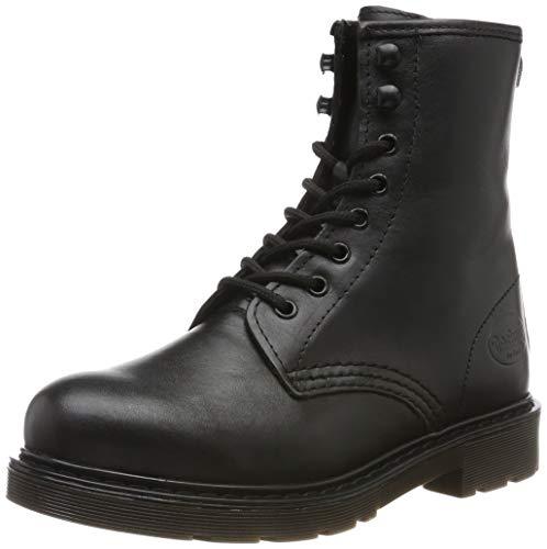 Dockers by Gerli 45en201, Botas Militar para Mujer, Negro Schwarz 100, 39 EU