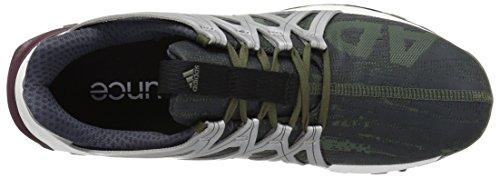 Adidas Vigor Bounce Synthétique Baskets Base Green-Black-Maroon