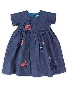 The Essential One - Bebé Infantil Niñas Vestido Bordado - Azul Marino - EOT524