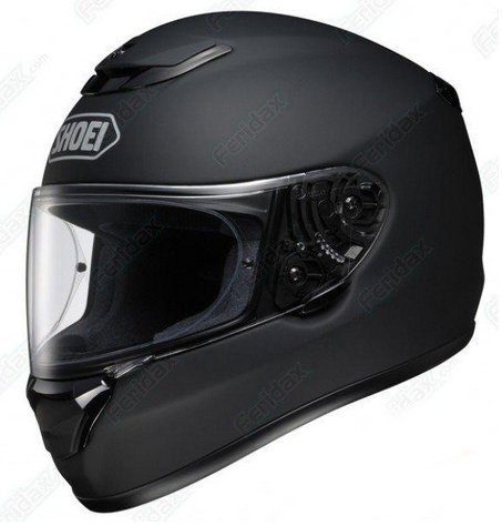 SHOEI QWEST MOTORCYCLE MOTORBIKE LID RACING RACE HELMET J&S (LARGE L, MATT BLACK)