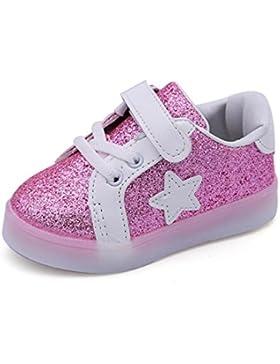 Babyschuhe,Sannysis Baby Sneaker LED Leuchtende Kinder Kleinkind Beiläufige Bunte Helle Schuhe 1-6Jahre (23, Rosa)