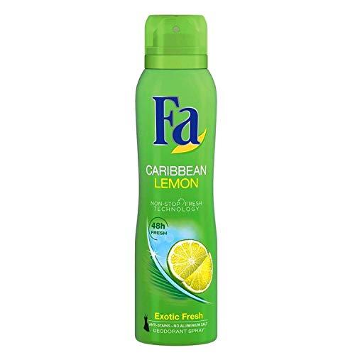 Fa Deodorant Spray (Fa Deospray 48H Caribbian Lemon 3er Pack Exotisch frischer Duft (3x 150ml))