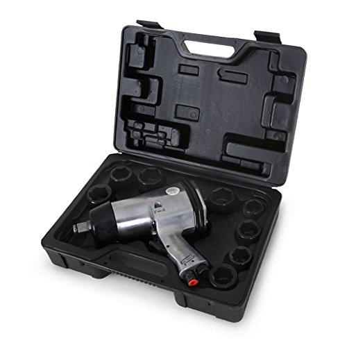 Preisvergleich Produktbild EBERTH 13 teiliges Druckluft Schlagschrauber Set (3/4 Zoll, 678 Nm, Drehmomentregler, Rechts und Linkslauf, Hochleistungs Schlagwerk)