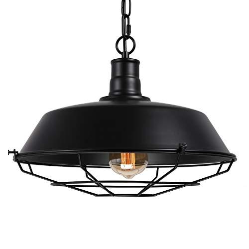 BAYCHEER Suspensions Abat-jour en Métal Style Rétro avec Grilles Industriel Lustre Luminaires Eclairage Decoratif
